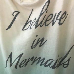 """Tank Top - """"I Believe in Mermaids"""" in blue ombre"""